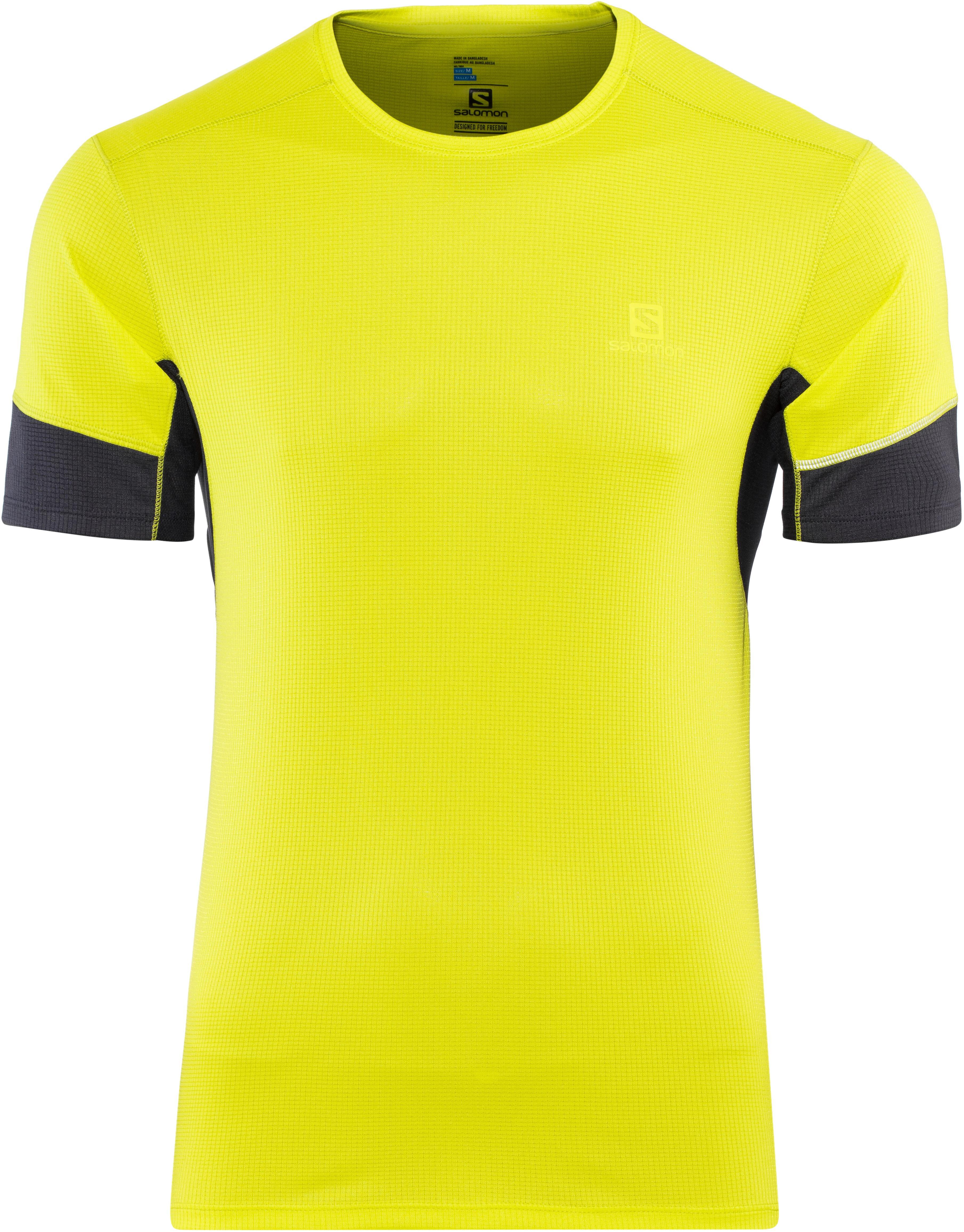 af73bba4b19 Salomon Agile Hardloopshirt korte mouwen Heren geel l Outdoor winkel ...
